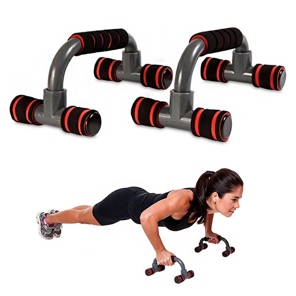 Apoio Flexao Fixo Braço Academia em Casa Fortalecimento Musculaçao Exercicios Tonificaçao Fitness