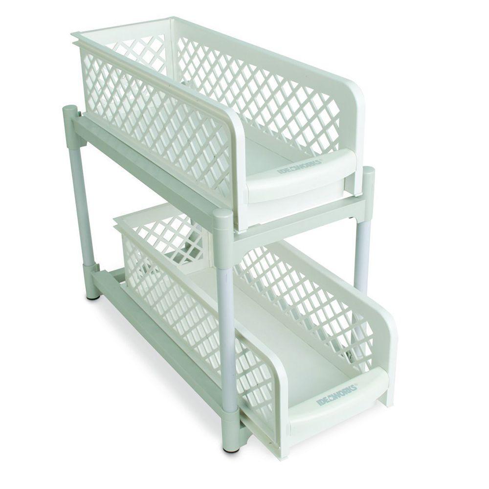Armario Cesto portátil Organizador 2 niveis Gavetas Banheiro cozinha