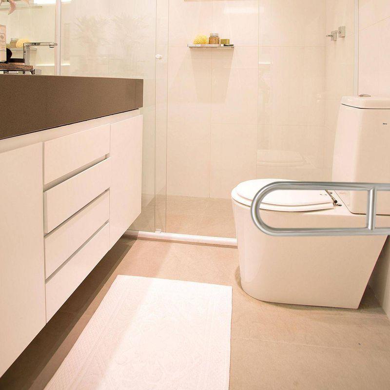 Barra de Apoio Articulada banheiro Lateral Cadeirante Idoso Segurança Inox Acessibilidade