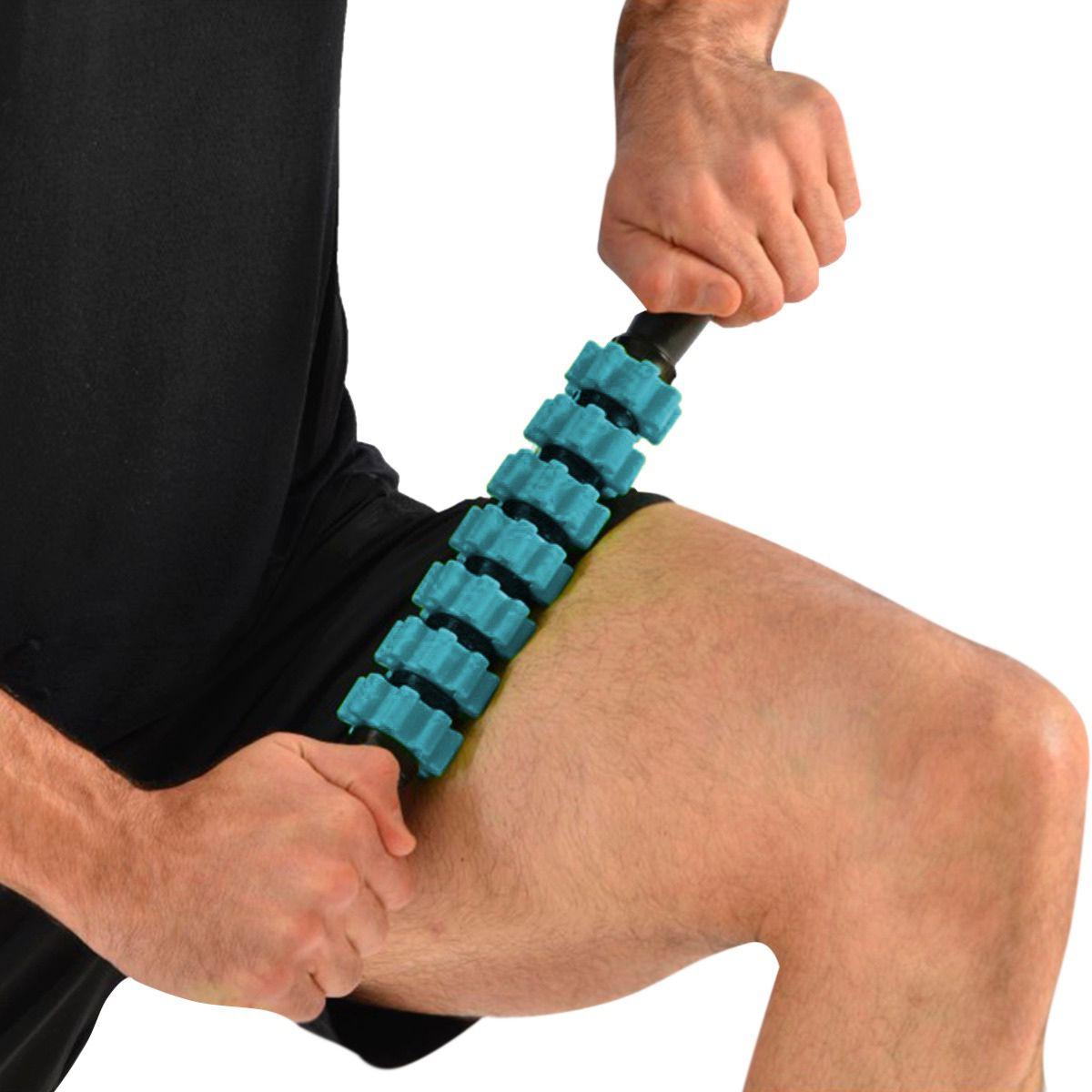 Bastao Miofascial Massagem Yoga Pilates Liberaçao Azul