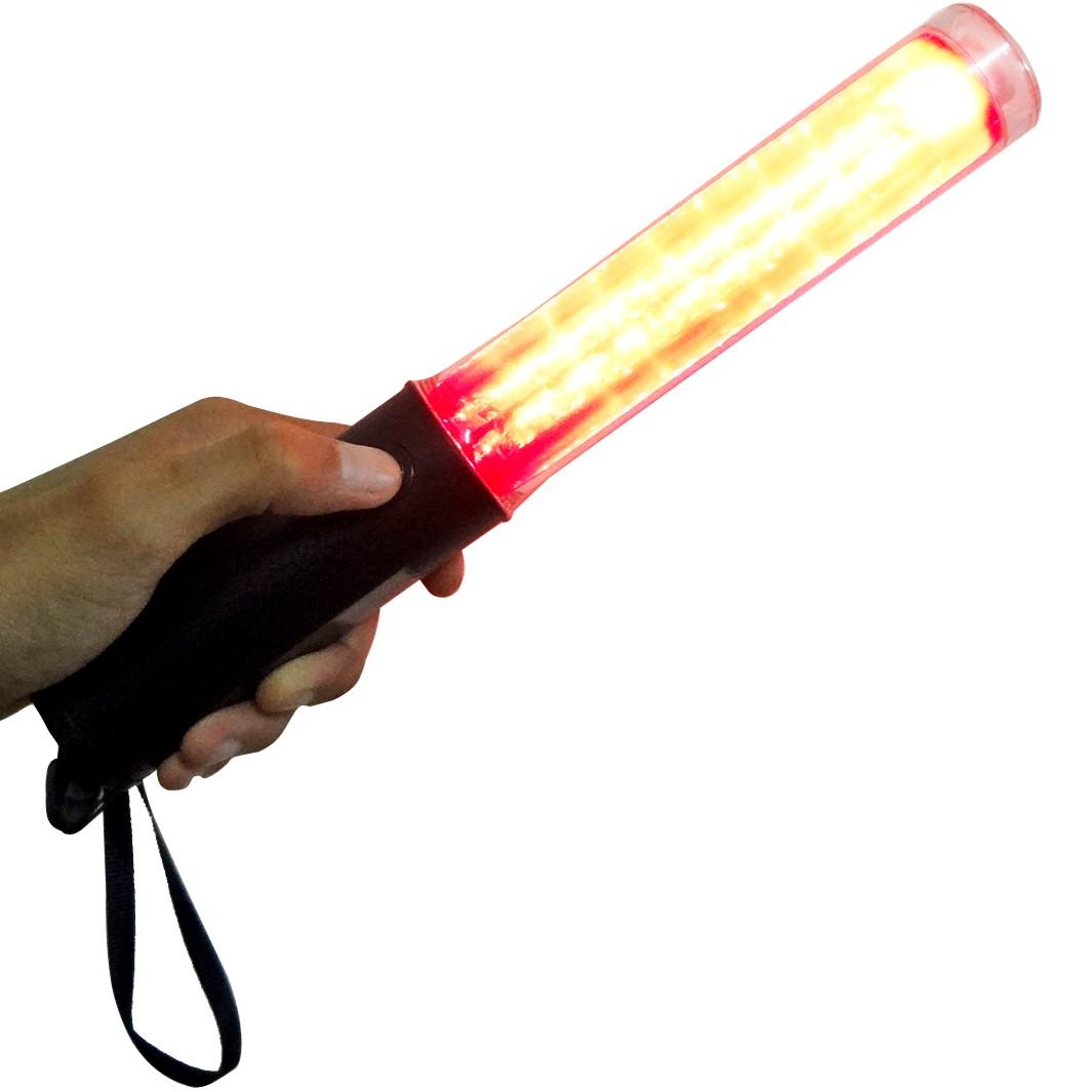 Bastao sinalizador luz fluorescente lanterna sinal emergencia atenção transito