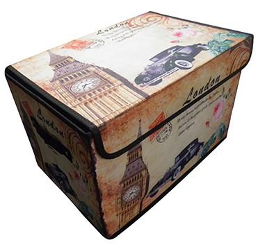 Bau Porta Treco Vintage Guarda Volumes Organizador Retro London (PF-15)