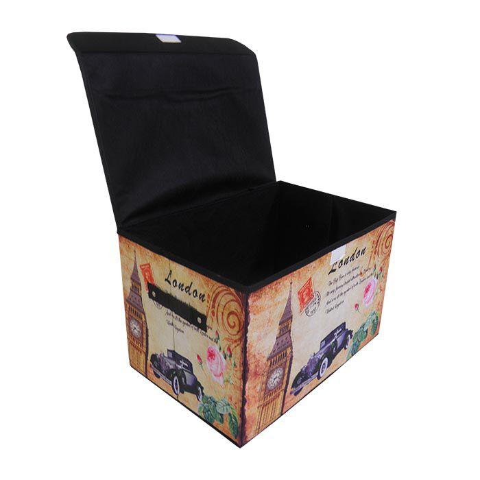 Bau Porta Treco Vintage Organizador Dobravel Retro (pf-15)