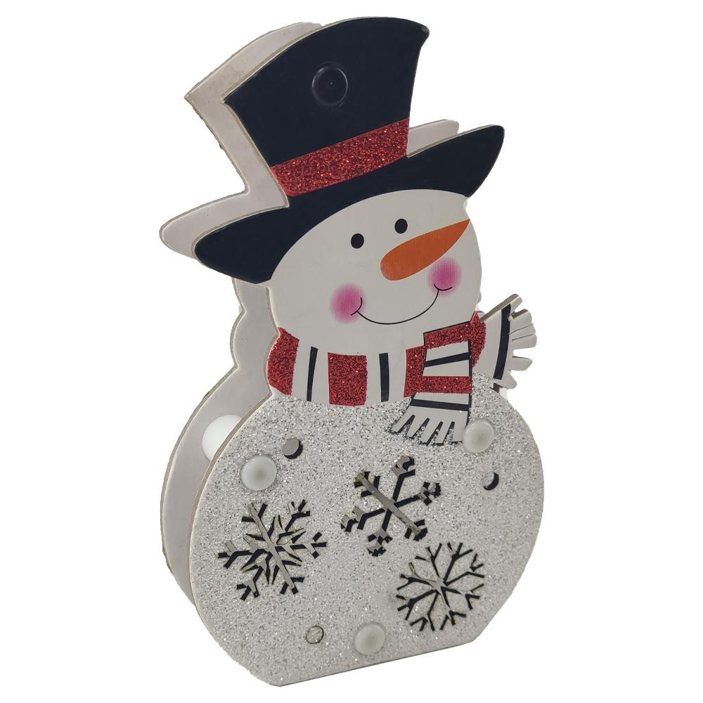 Boneco de Neve Natal Kit 2 uni Decoraçao Arvore Mesa Led Enfeite Natalino