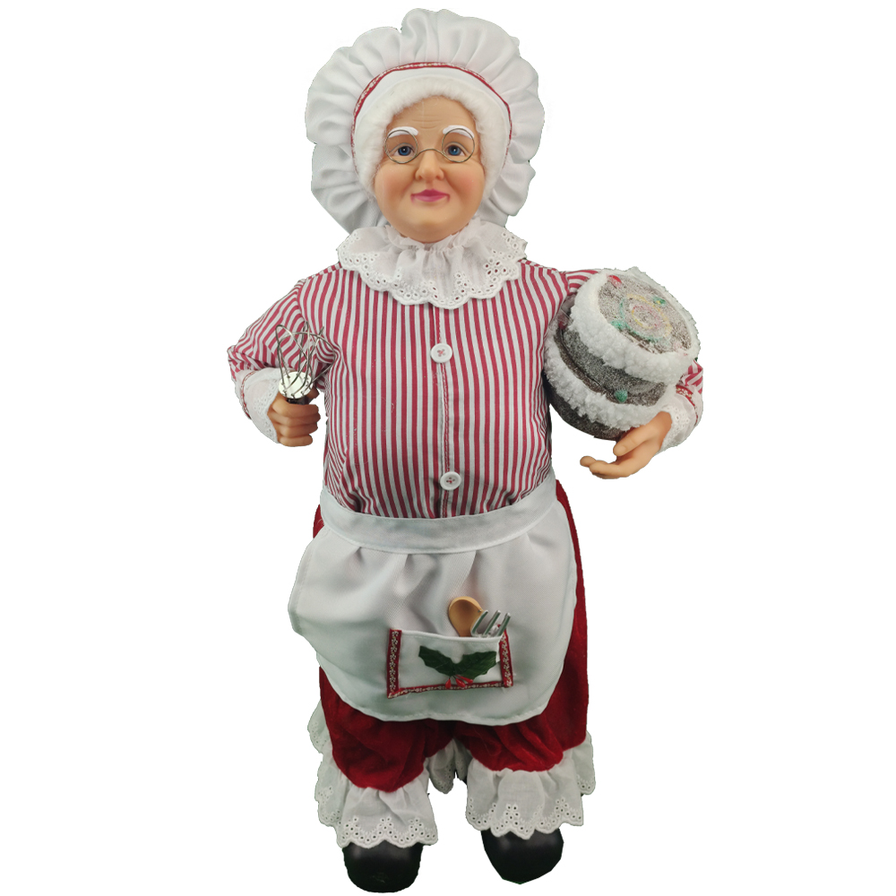 Boneco Mamae Noel Natal 60 cm Cozinheira Natalino Enfeite Decoraçao Restaurante Cozinha Entrada