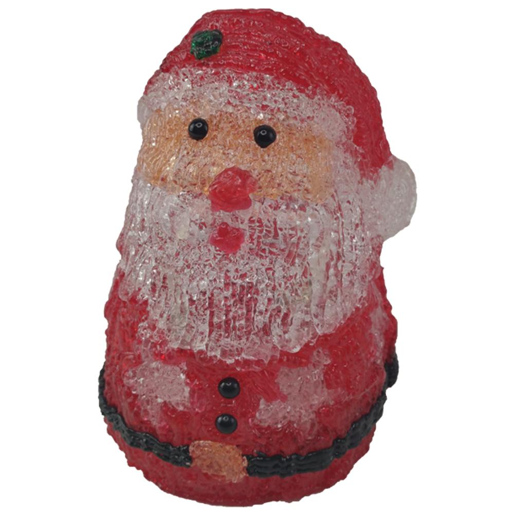 Boneco Papai Noel Mesa Enfeite Iluminado 10 Leds Decoraçao Natalino Casa Escritorio