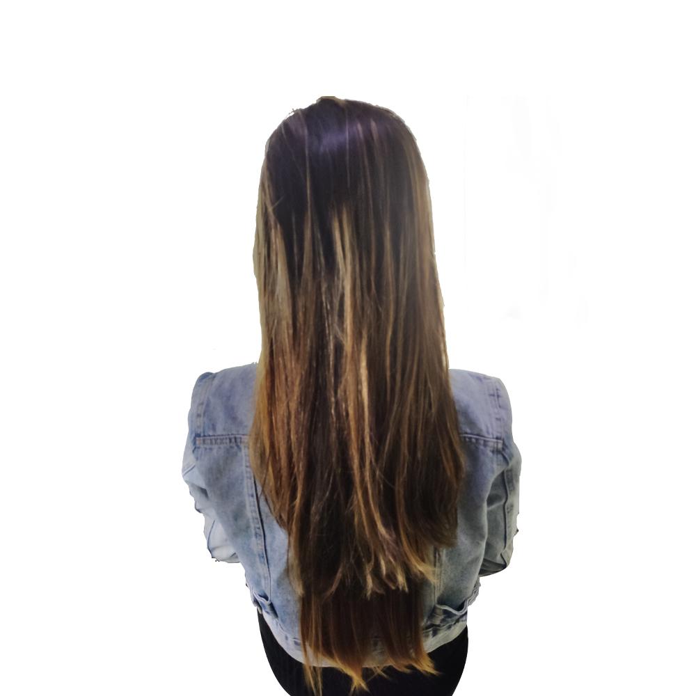 Cabelo Aplique Tic Tac Fibra Japonesa Organica Liso Longo Mega Hair Cabeleireiro Aceita Chapinha Prancha Secador