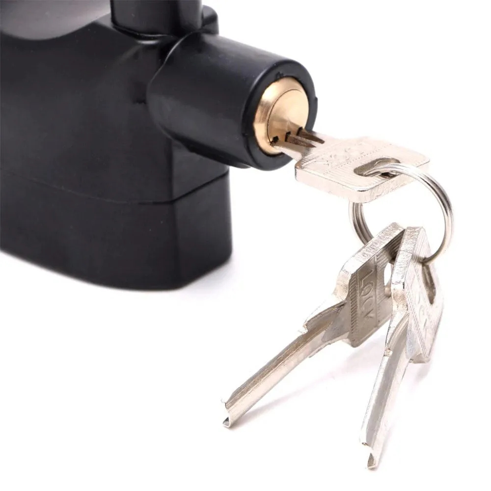 Cadeado com Alarme Sirene Anti furto 110db Som Alto Segurança Moto Casa