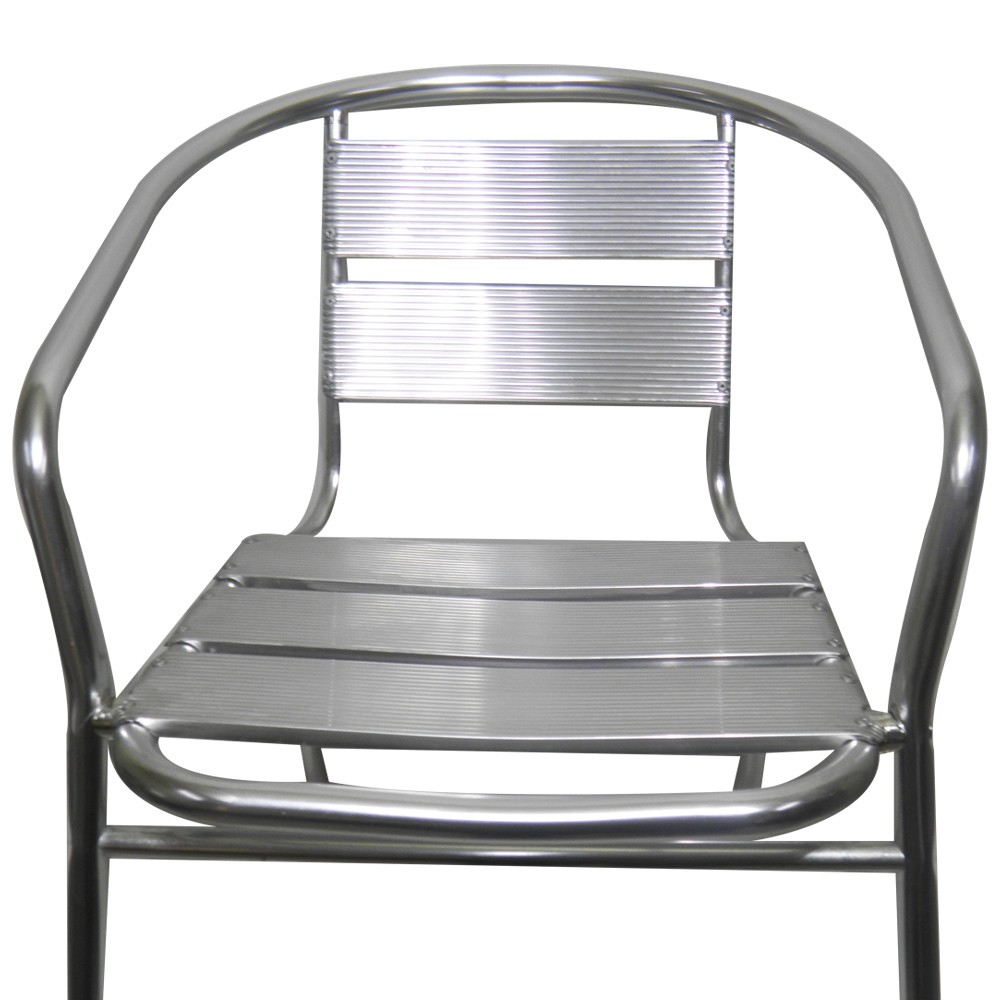 Cadeira Aluminio Jardim Area Externa Kit 2 unidades Banqueta