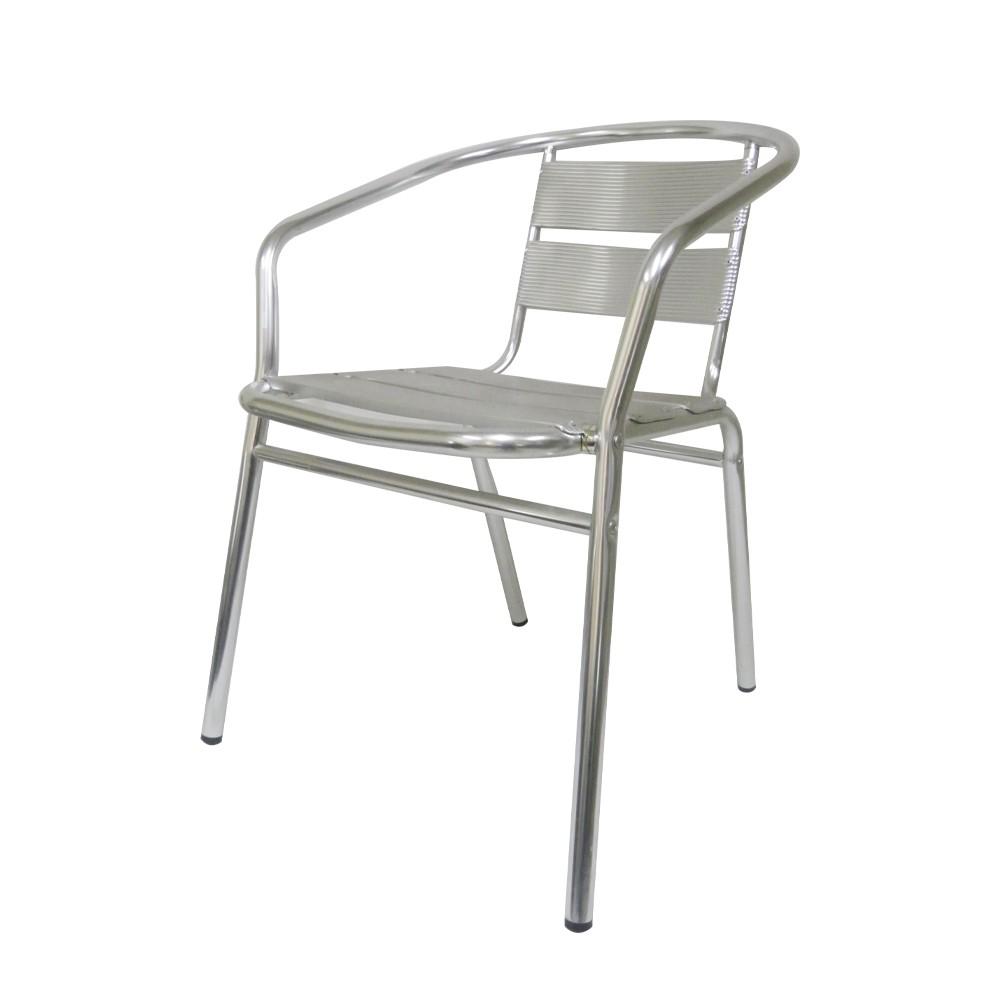 Cadeira Aluminio Jardim Kit 4 unidades Area Externa Banqueta