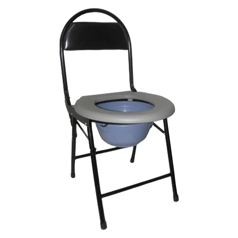 Cadeira Banheiro Cadeirante Deficiente Idoso Vaso Aço Resistente Dobravel