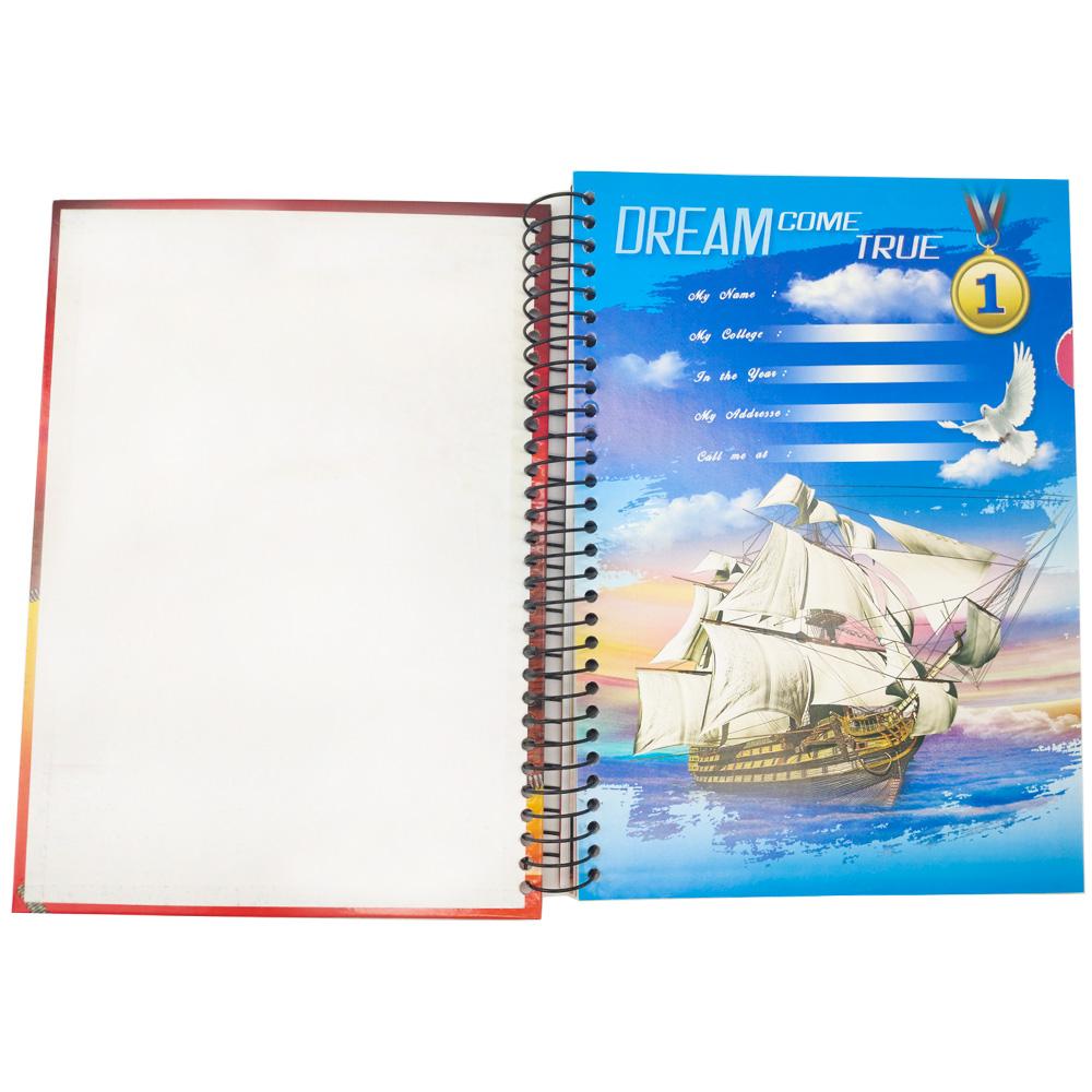 Caderno 3 Materias Espiral Capa dura 150 Folhas Volta Aulas Faculdade Escola Curso Escritório Trabalho Anotacoes