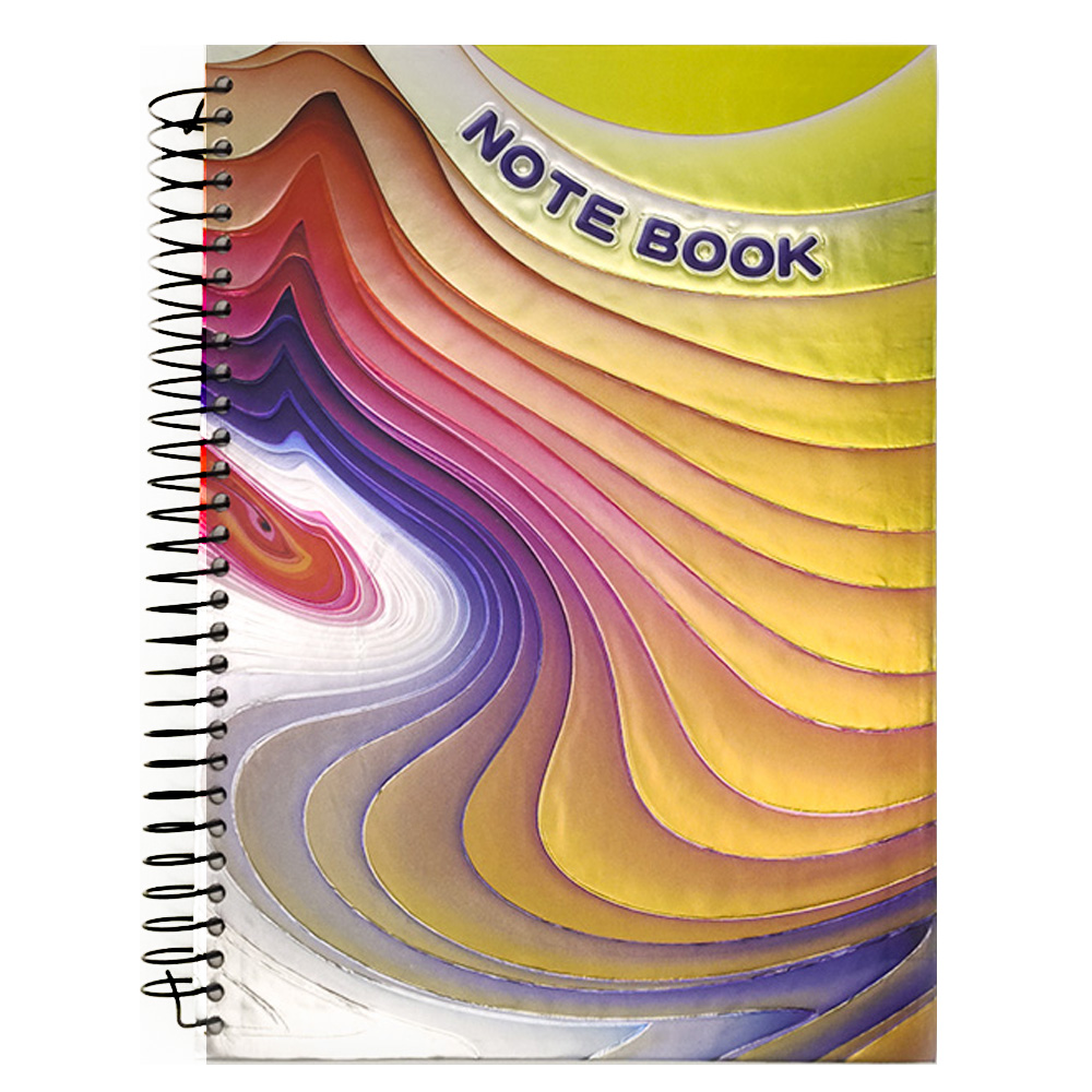 Caderno 3D Capa dura 190 Paginas Espiral Volta as Aulas Faculdade Curso Escola Escritório