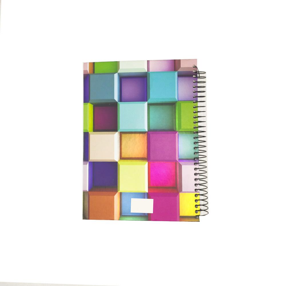 Caderno 3D Capa Dura 190 Paginas Espiral Volta as Aulas Faculdade Escola Escritório