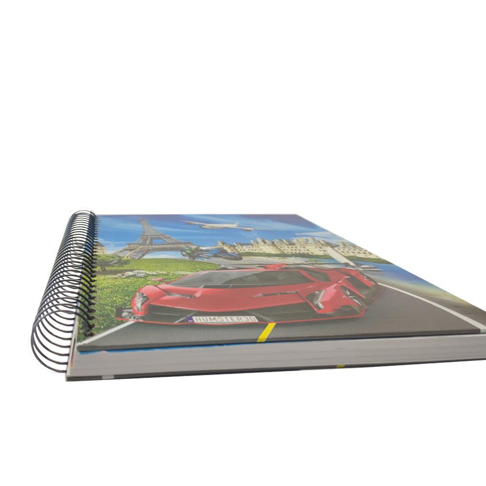 Caderno Capa dura 150 Folhas Espiral Volta as Aulas Faculdade Escola Curso Escritório Trabalho Anotacoes Agenda