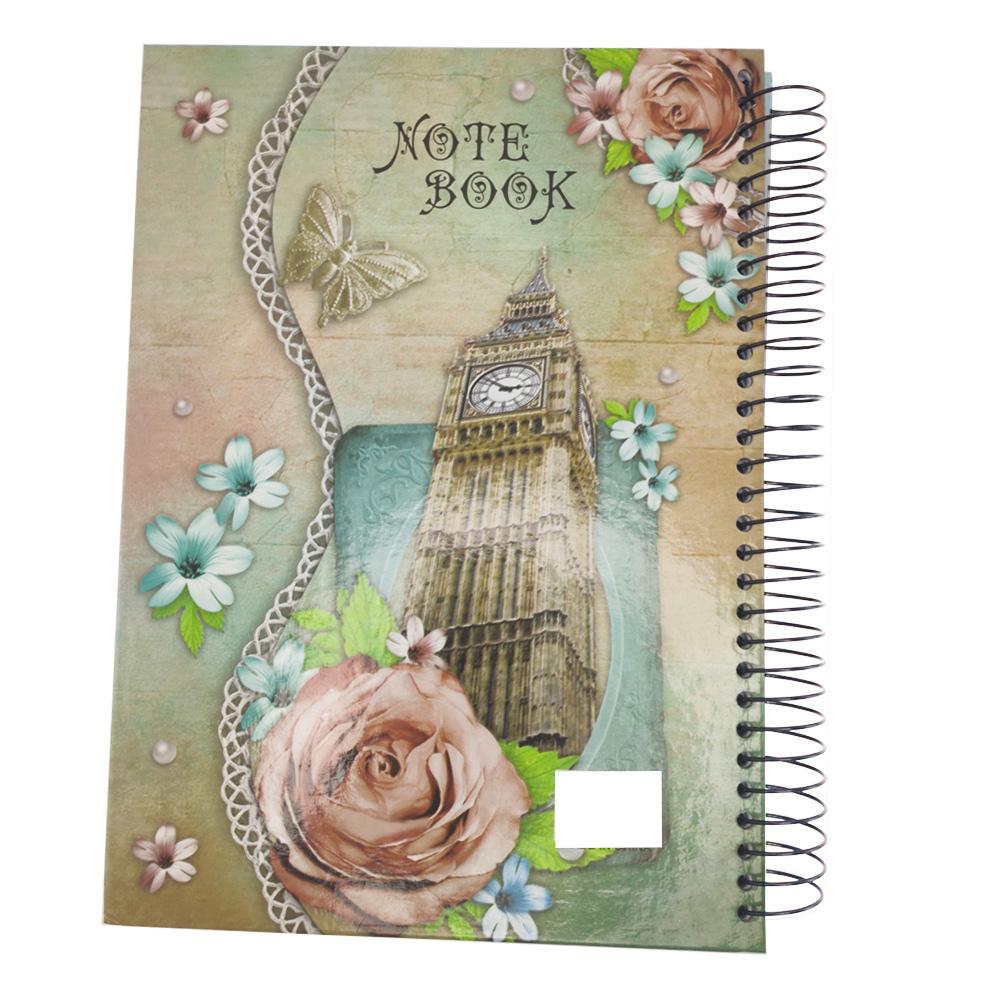 Caderno Capa dura 150 Paginas Espiral Volta as Aulas Faculdade Escola Curso Escritório