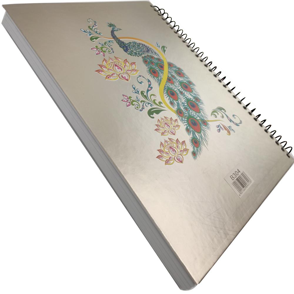 Caderno Capa Dura 3D 190 Páginas Espiral Volta Aulas Estudos Escola Curso Faculdade Ensino Anotacao