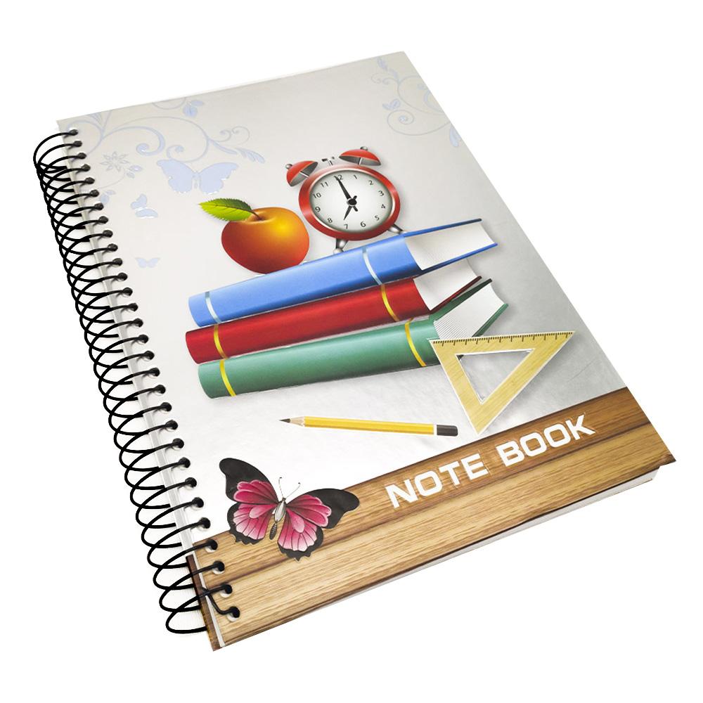 Caderno Espiral Capa Dura 3D 190 Páginas Volta Aulas Estudos Escola Curso Faculdade Ensino Anotacao