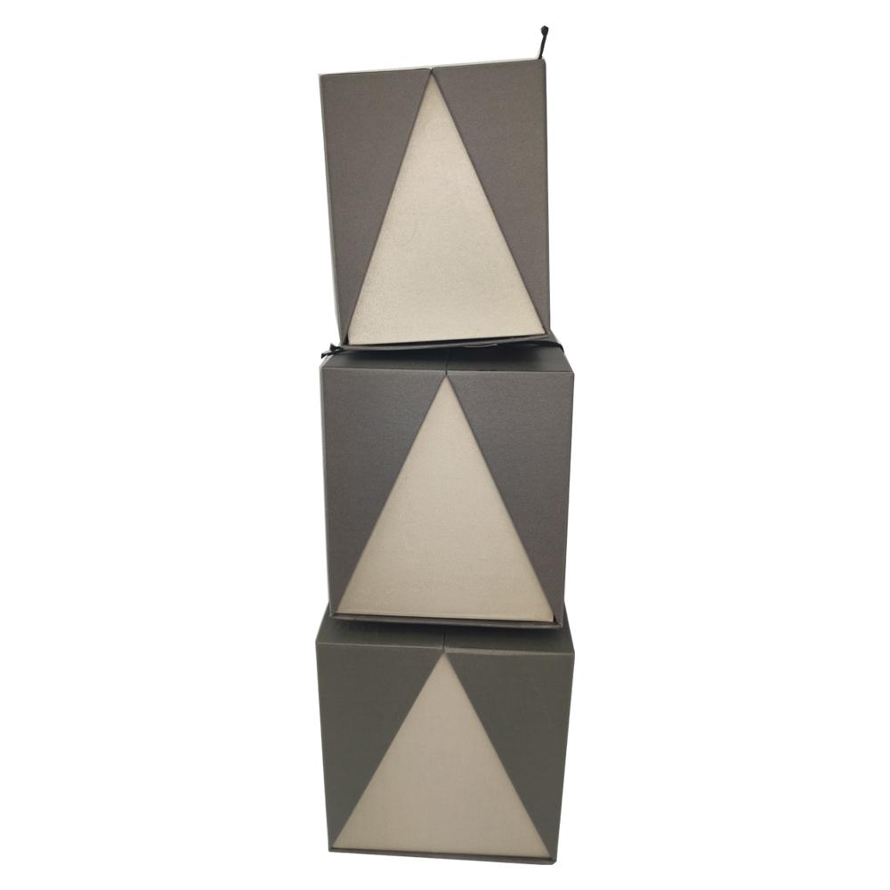 Caixa de presente Rigida Com Tampa Retangular com Elastico Enfeite Sweet Love Kit 3 caixas