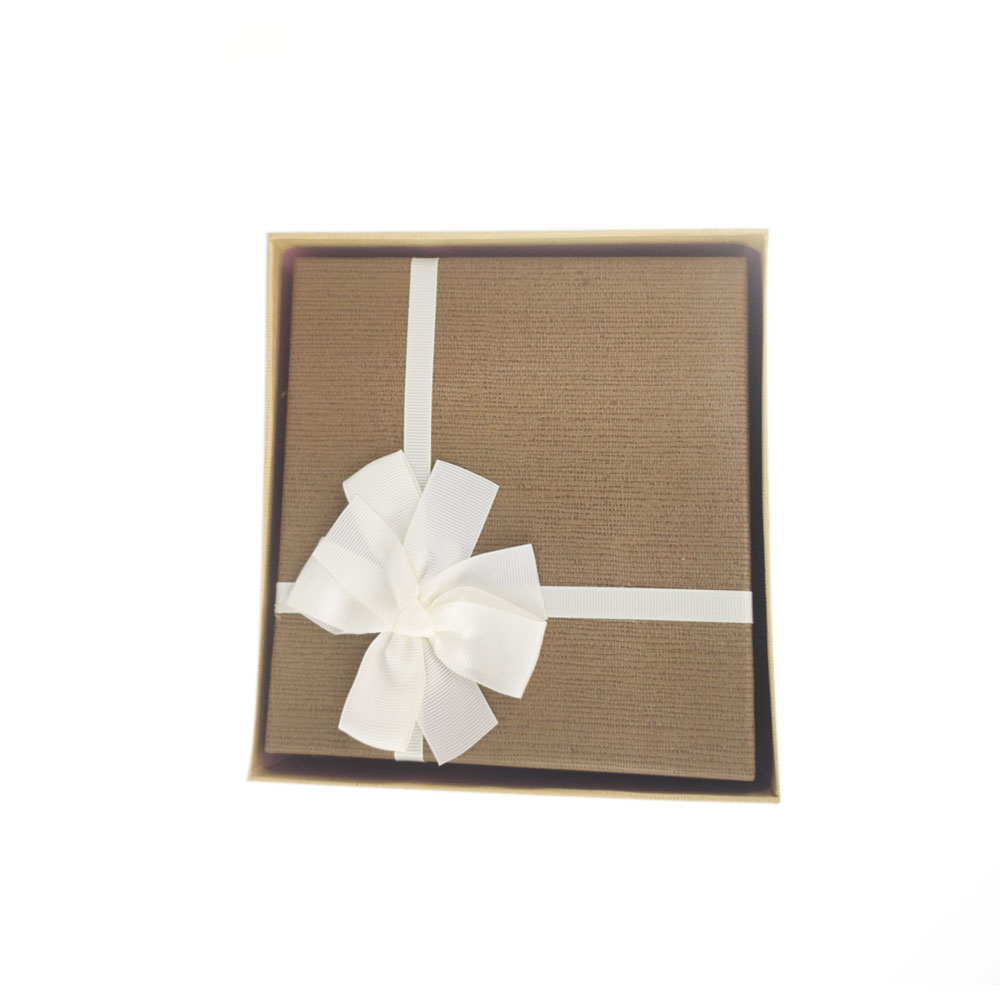 Caixa Presente Conjunto 3 pecas Papel Cartao Rigido Texturizado Tampa Laco Branco Festa Evento