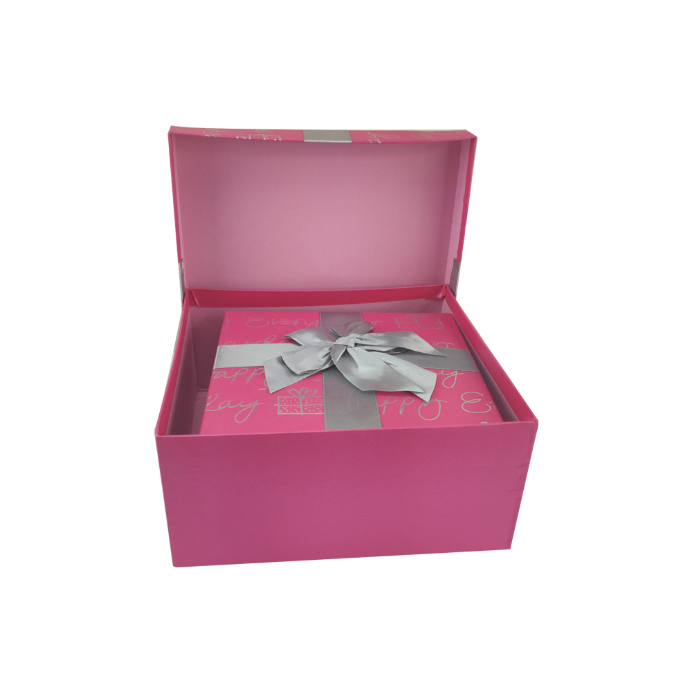 Caixa Presente Rigida Com tampa Texturizada Laço Conjunto kit 4 caixas Aniversário Surpresa