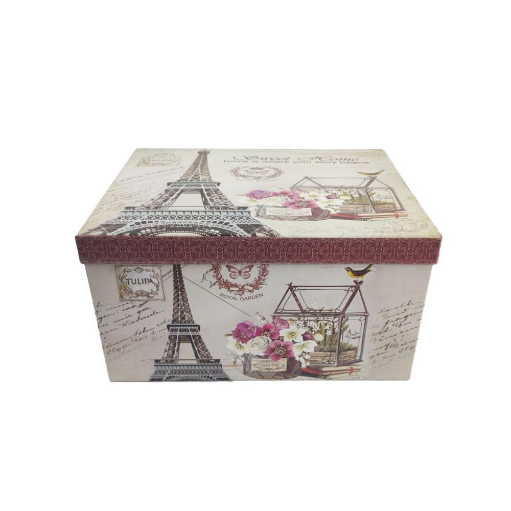 Caixa Presente Rigida Enfeite Torre Eiffel Kit 10 Pecas Paris Organizador Aniversario Festa