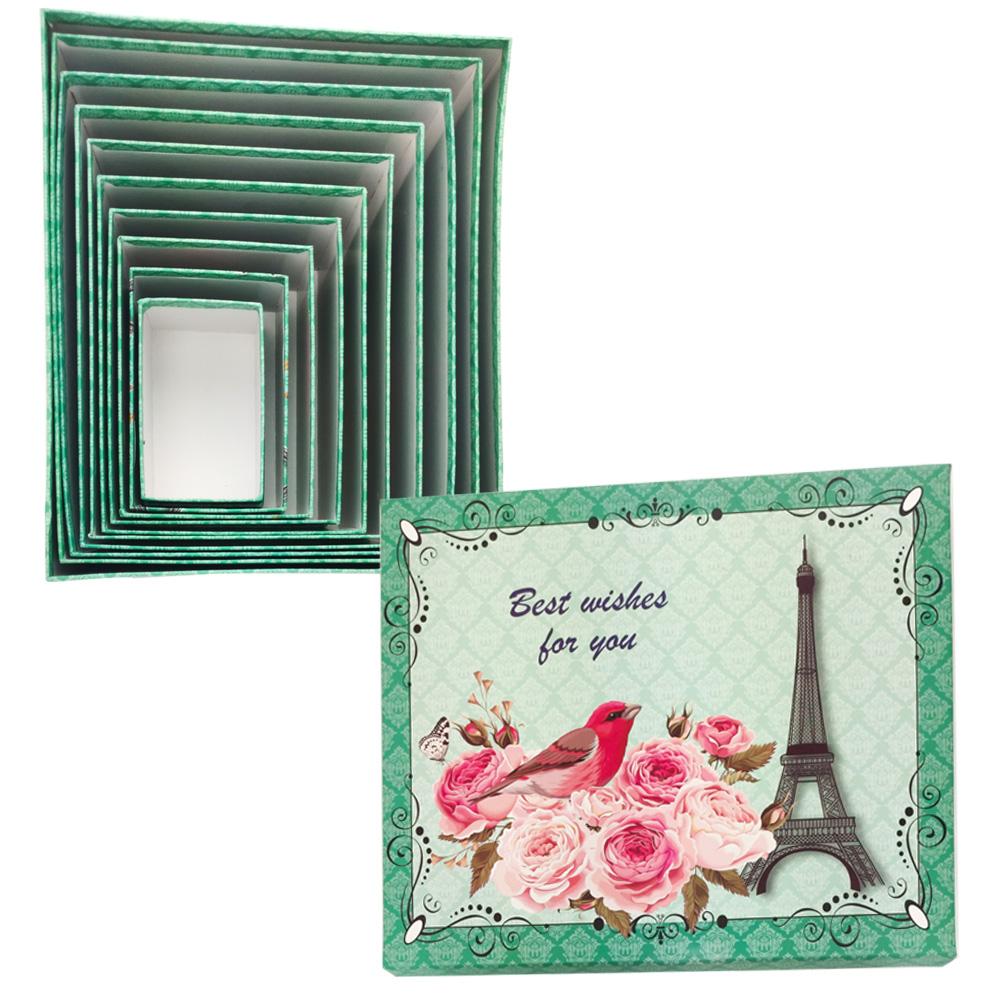 Caixa Presente Rigida Enfeite Torre Eiffel Paris Kit 10 Cxs Organizador Aniversario Festa Evento