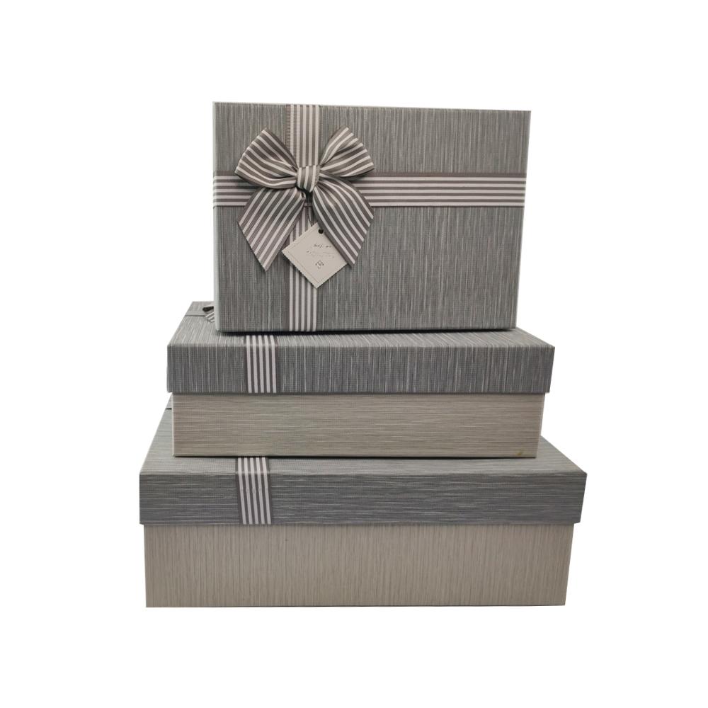 Caixa Presente Rigida Texturizada com Tampa Laco etiqueta Kit 3 Caixas Luxo Organizadora Surpresa Aniversario Festa Evento
