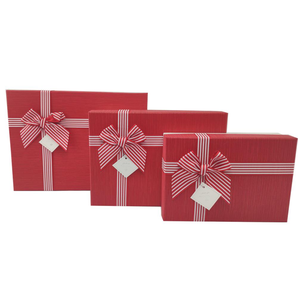 Caixa Presente Rigida Texturizada com Tampa Laco etiqueta Kit 3 Caixas Luxo Surpresa Aniversario