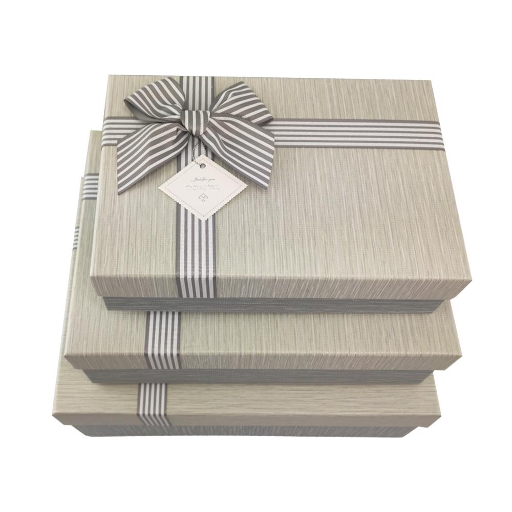 Caixa Presente Rigida Texturizada com Tampa Laco etiqueta Kit 3 Caixas Surpresa Festa Aniversario