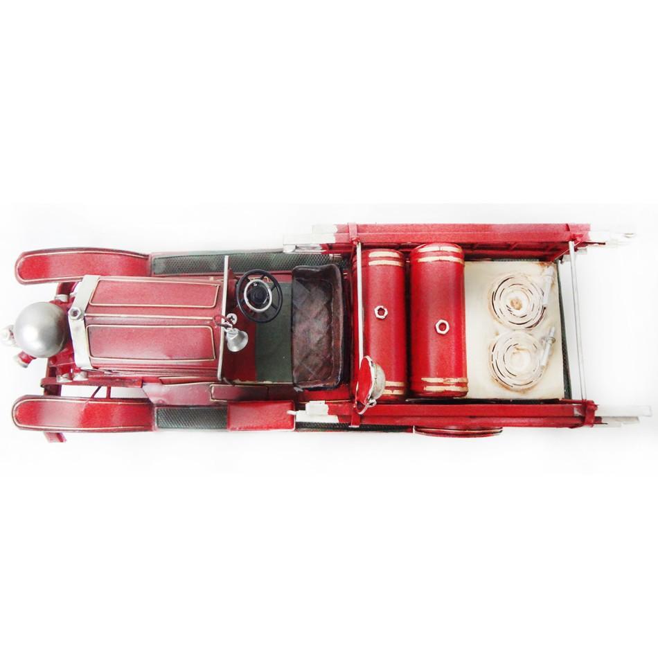 Caminhão De Bombeiro Vintage Retro Feito  de Metal Fundido Replica (CJ-012)