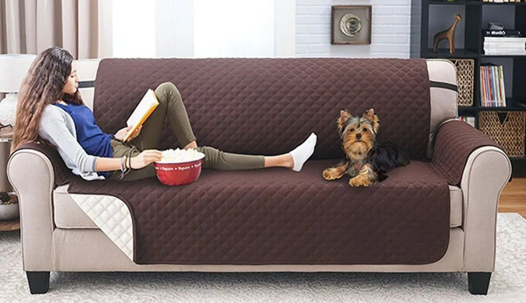Capa Sofa Protetora Criança Pet Gato Cachorro Comida Bebida