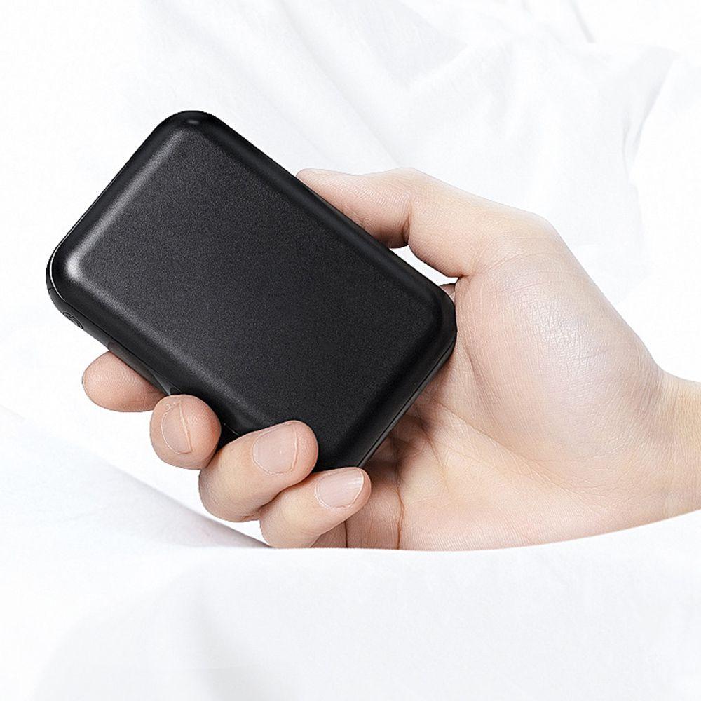 Carregador Portatil 10000 mah Usb Micro USB Tipo C Bateria Celular Preto