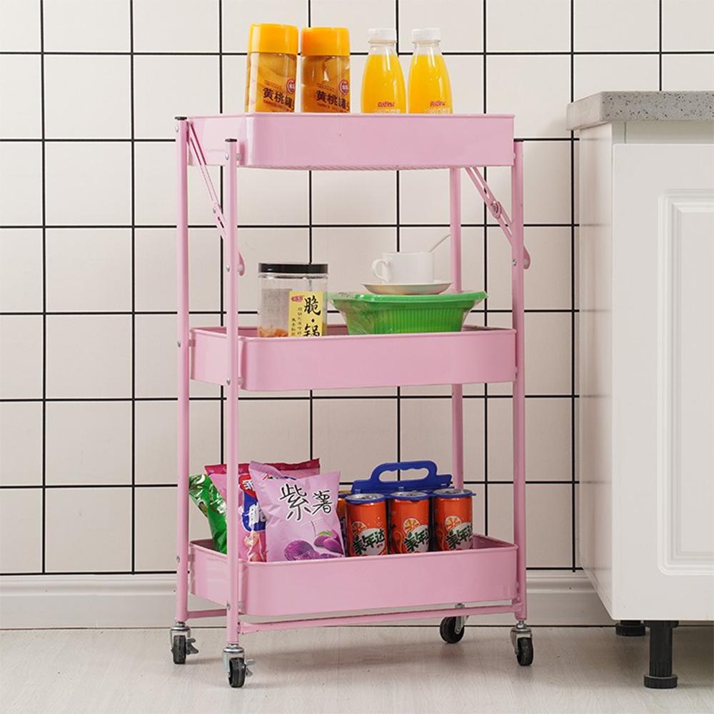 Carrinho 3 Andares Organizador Rack Casa Quarto Salao De Beleza Banheiro Rodas