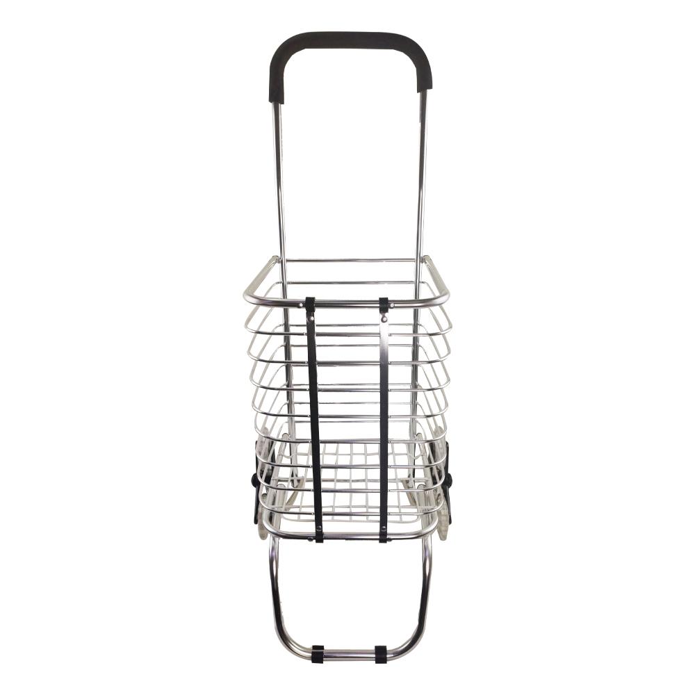 Carrinho De Aluminio Com 6 Rodas Dobravel Compras Sobe Escada Casa