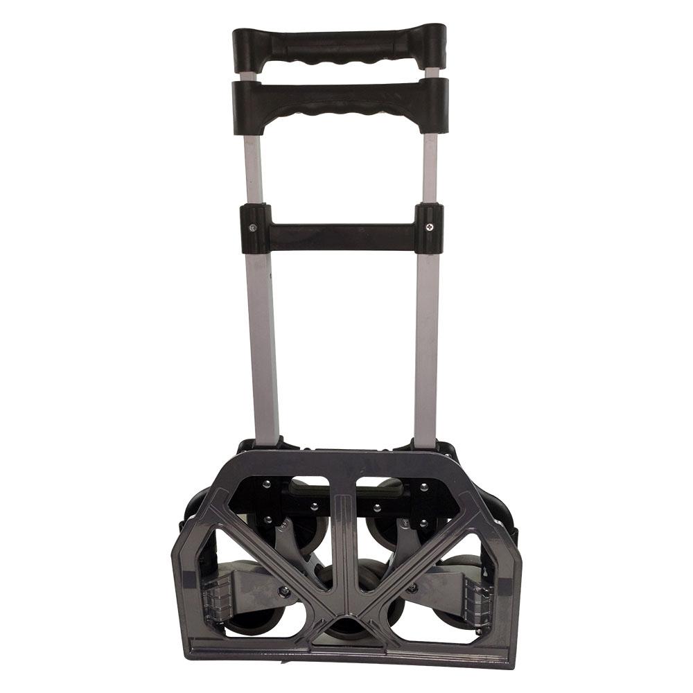 Carrinho de Carga 6 Rodas Sobe Escada Dobravel em Aluminio Estoque Compras 80KG