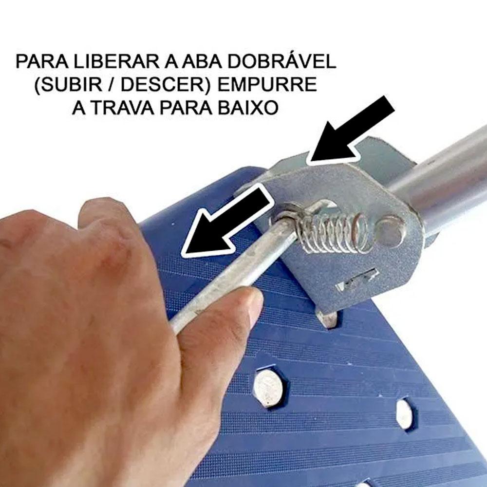 Carrinho de Carga Plataforma Prancha Dobravel 4 Rodas Compras Estoque Super Mercado