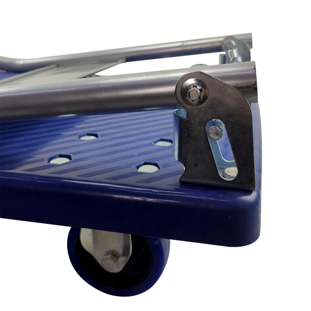 Carrinho de Carga Plataforma Prancha Grande Dobravel 4 Rodas Compras Estoque Super Mercado