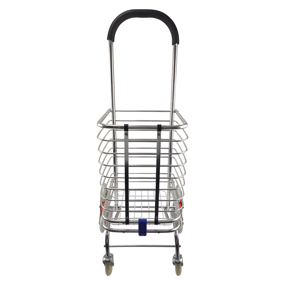 Carrinho de Mão 8 Rodas Sobe Escada Carga Dobravel em Aluminio Estoque Compras