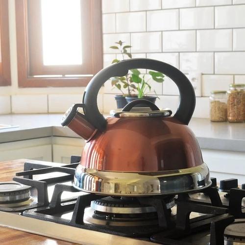 Chaleira Em Aço Inox Com Apito Alça Fundo Triplo 2.5 Litros Indução cozinha