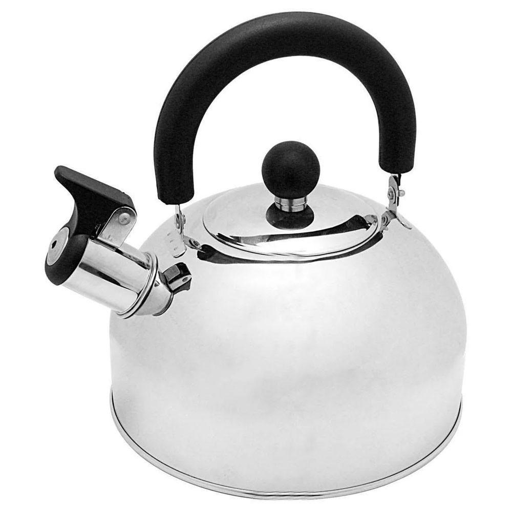 Chaleira Em Aço Inox Com Apito E Alça Termica 2 Litros cozinha casa