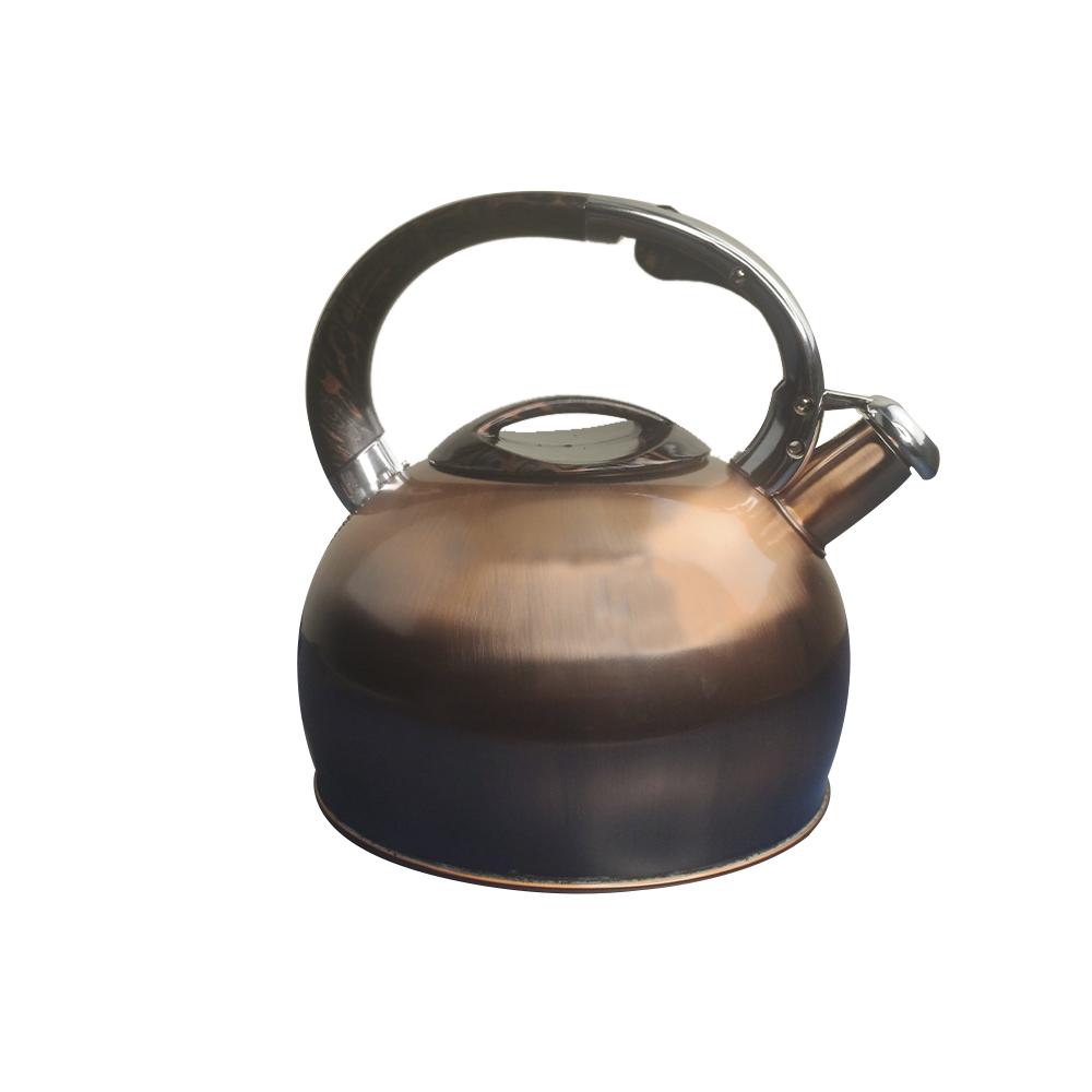 Chaleira Vintage Retro com apito e alça 3 litros indução cozinha