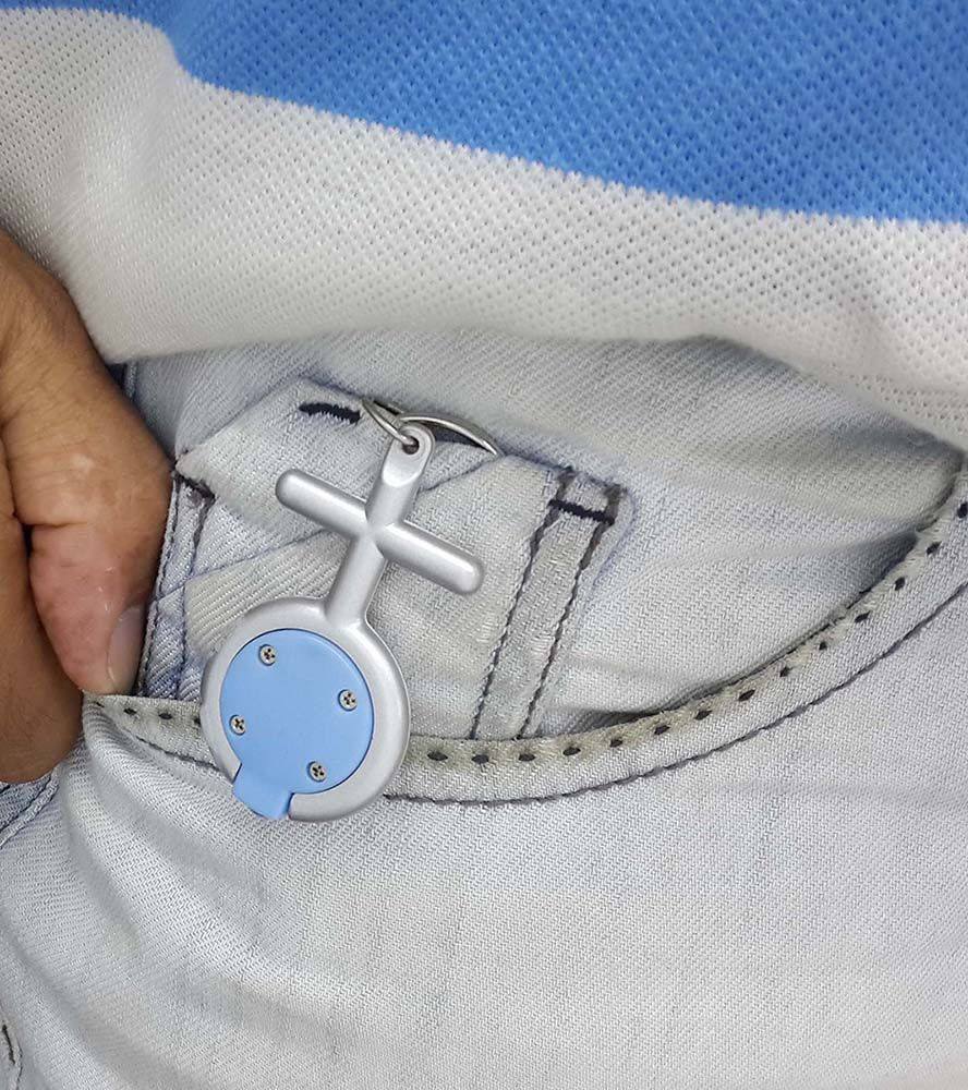 Chaveiro de Brinde Amor Cores Sortidas Kit 48 Unid (BL-1503-16)