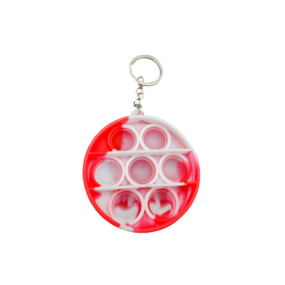 Chaveiro Pop it Anti estresse Ansiedade Relaxamento Redondo Fidget Sensorial