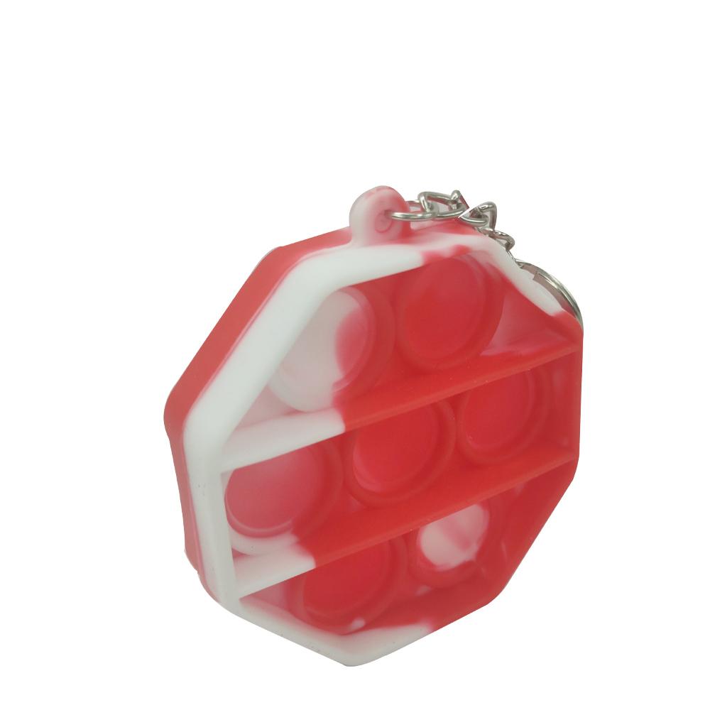 Chaveiro Pop it Anti estresse Octagonal Relaxamento Ansiedade Fidget Sensorial