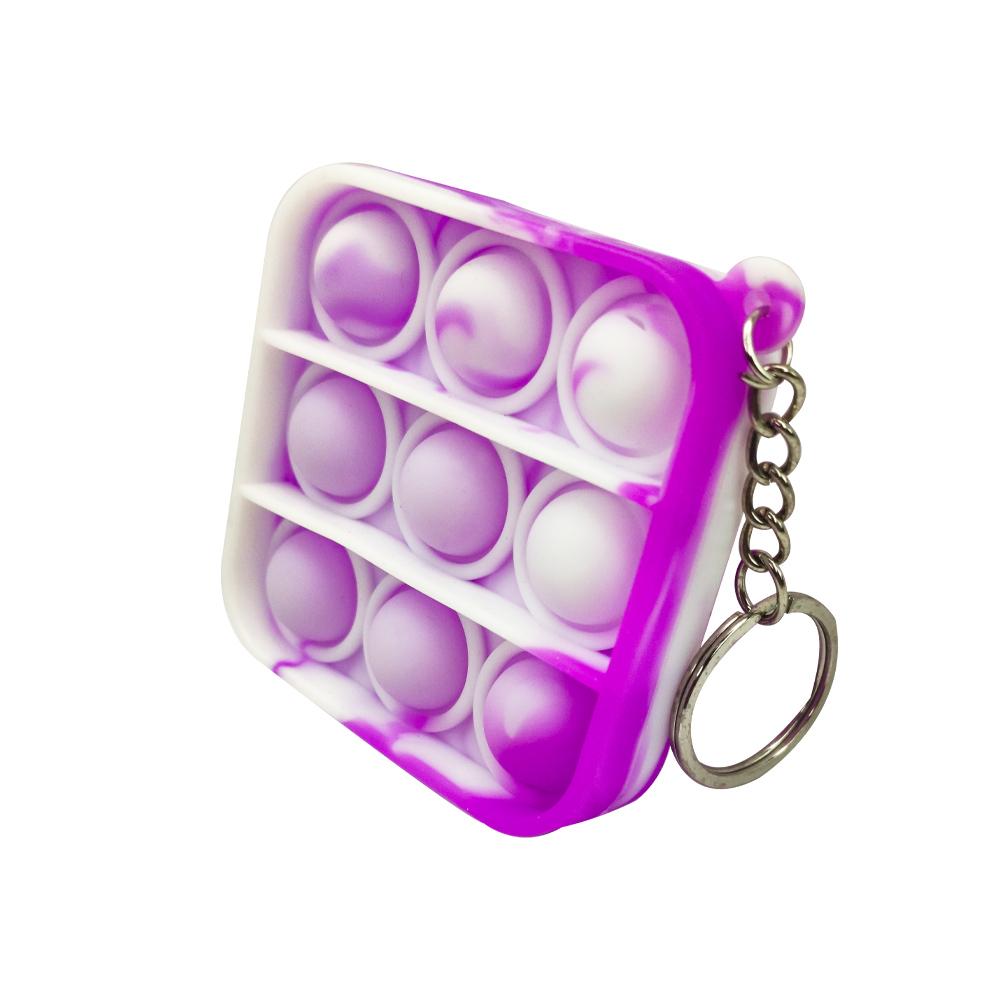 Chaveiro Pop it Anti estresse Quadrado Relaxamento Ansiedade Fidget Sensorial
