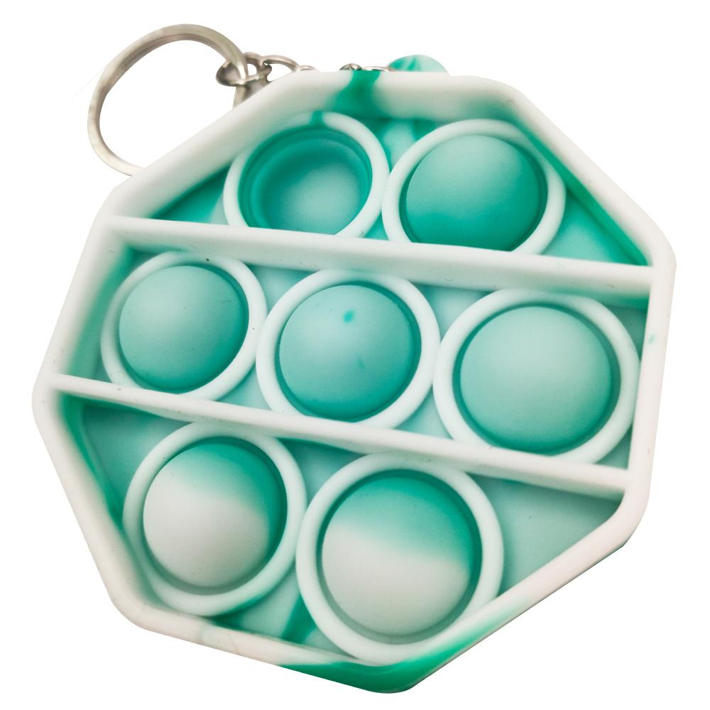Chaveiro Pop it Anti estresse Relaxamento Ansiedade Fidget Sensorial Octagonal