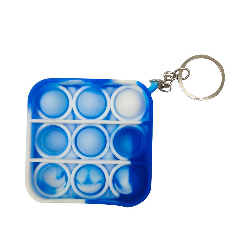 Chaveiro Pop it Anti estresse Relaxamento Ansiedade Fidget Sensorial Quadrado