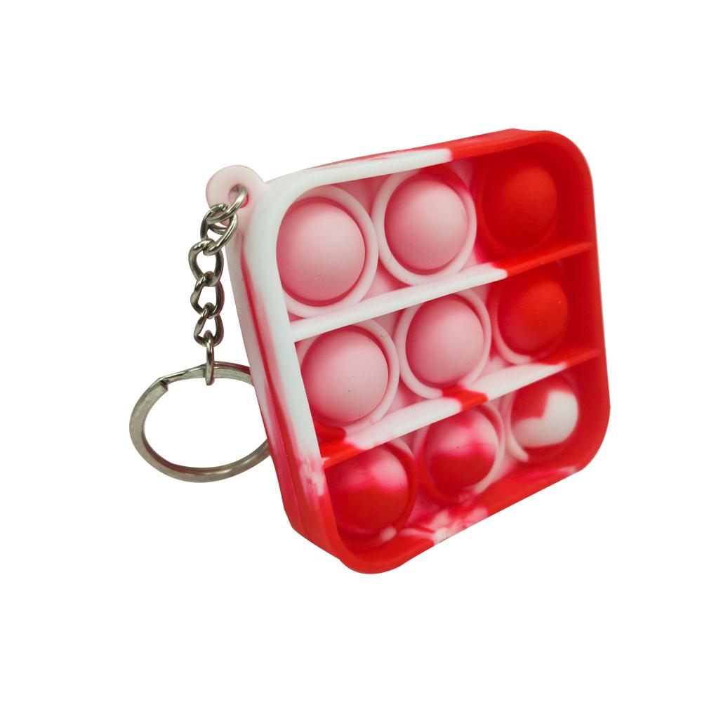 Chaveiro Pop it Anti estresse Relaxamento Quadrado  Ansiedade Fidget Sensorial
