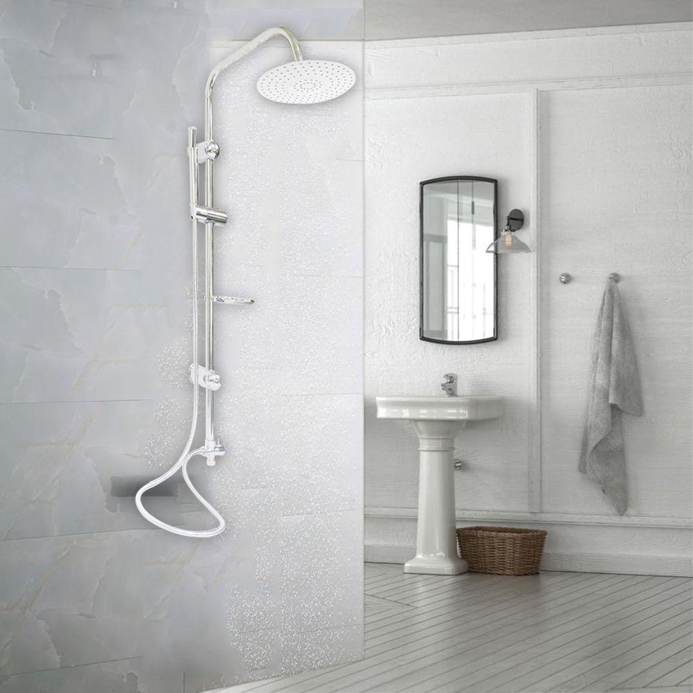 Chuveiro Luxo Aço Inox Cromado Chuveirinho Parede Externo Banheiro